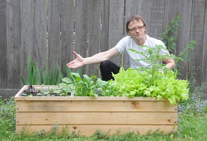 Dick Larsen, owner of The Vegetable Revolution